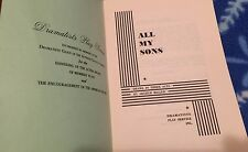 All My Sons A Drama in Three Acts by Arthur Miller Dramatists PlaySvce Paperback