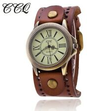 Mens Genuine leather watch men's watch unisex leather watch retro  classic watch
