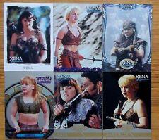 Individual/single Xena Warrior Princess trading cards, Seasons 1 2 4&5 6 Arts