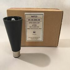 "Set of 4: Hatco 6-inch Commercial Kitchen Equipment Adjustable Legs 1/2"" Thread"