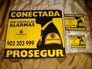 CARTEL DISUASORIO PROSEGUR CON UNAS MEDIDAS DE 30 X 28 CM + 2 PEGATINAS. LEER.