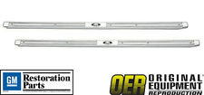 OER New 1959-1960 Chevrolet BelAir Impala Biscayne 2 Door Sill Scuff Plates-Pair
