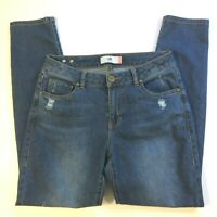 cabi Womens Curvy Skinny Jeans Size 10 Distressed Medium Wash Denim Style # 5091