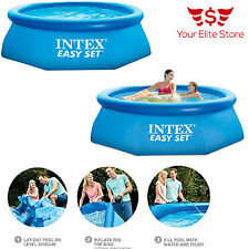 Outdoor Inflatable Swimming Pool Water Intex Filter Pump 8Ft X 30In Above Ground