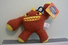 "SKYLANDERS GIANTS ERUPTOR 7"" PLUSH COIN COLLECTOR TOY NEW W/ TAG BACKPACK CLIP"