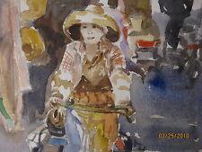 """Original Print / HONG KONG / 10 1/4"""" x 14"""" / Mimi Davis, Artist"""