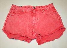 Women's Denim Shorts, Peach color, High waist (Size:0)