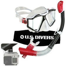 U.S. Divers GoPro-Ready Adult Snorkel & Mask Set Submersible Camera Mount Gear