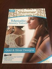 Shimmer Metallic Jewelry Tattoos gold & silver designs