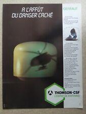 5/1986 PUB THOMSON-CSF GERFAUT RADAR PULSE DOPPLER FRENCH AD