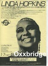 LINDA HOPKINS Original Jazz Poster JAPAN Kenny Drew Blue Note WILSON Impulse