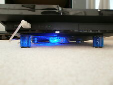 <  PLAYSTATION 3 > Cooling stand for PS3 Blue LED  Fan USB Cooler PS4