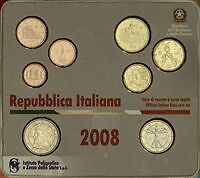 2008 8 monete EURO ITALIA BU ITALIE ITALY KMS ITALIEN