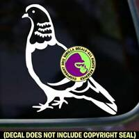 Pigeon Vinyl Decal Sticker Bird Keeper Pigeons Keeping Racing Car Window Sign