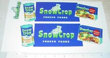 Dunwell Snow Crop Frozen Foods Semi Sticker Set  DW-004