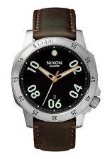 NIXON RANGER Leather Watch | Black / Brown | Quartz Analog | A506 019  Authentic