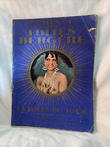 1926-27 Folies Bergere Program Josephine Baker Cover large format,