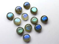 10 Pcs Natural Blue Fire LABRADORITE 7x7 mm Round Cabochon Loose Gemstone AR-21