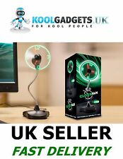 LED Clock Fan With Stand - Amazing and Kool Gadget. Must Have!