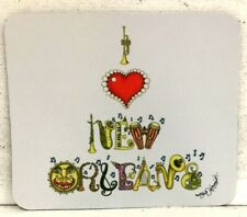 I Love New Orleans Mouse Pad, artist Jamie Hayes, music instruments, horns