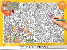 Jigsaw Puzzle Color Me Hidden Butterflies 300 pieces NEW Paint it Stress Relief