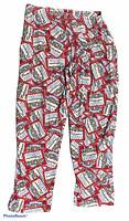 Vintage BUDWEISER Logo Lounge Sleep Pants Bottoms Size Medium M