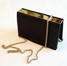 FURLA Tasche/Bag Vanitas S Crossbody/ Umhängetasche aus Leder Schwarz/Gold NEU!
