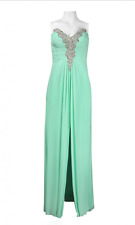 Decode Center slit Embellished Sweetheart Dress sz 4 Mint Green Prom Bridesmaid