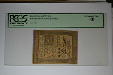 Pennsylvania October 1, 1773 15s PCGS Extremely Fine 40.