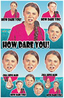 How dare you! Sticker pack Greta thunderberg Car Window vinyl decal funny laptop