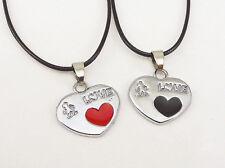 Partner Chain Relationship 2 x Necklaces Love Present Girlfriend Boyfriend Red