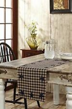 "Navy STAR 36"" TABLE RUNNER COUNTRY PRIMITIVE RUSTIC DECOR VHC BRANDS"