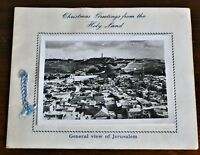 Vintage Christmas Greetings Card from the Holy Land - Pressed Flowers & Photo