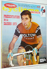 EQUIPE CYCLISME MAGAZINE N°32 1971 PRESENTATION SAISON THEVENET GUIMARD EQUIPES