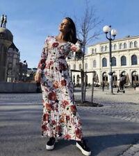 B Young Jilla Floral Full Length Maxi Dress V Neck Size 42 14 BNWT £79 Summer