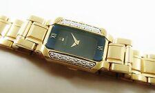 Seiko SZK174 Gold Tone Stainless 1F20-2S80 w/ Gemstones Sample Watch NON-WORKING