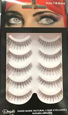 NEW DIMPLES FALSE EYELASHES 118 WITH GLUE 6 PAIRS HANDMADE NATURAL LOOK