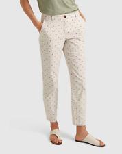 Sportscraft Pants Size 6 Beige Polka Dot 'Phoebe Spot' Cotton Chino Casual Work