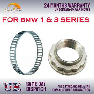 REAR ABS RELUCTOR RING + AXLE NUT FOR BMW 1,3 E81 E82 E87 E88 E90 E91 E92 E93