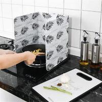 Modern Kitchen Oil Splash Guard Proof Protective Aluminum Board Cooker Gadget