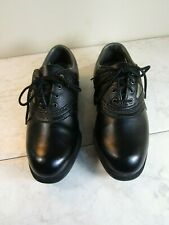 FootJoy Black Oxford Lace Up Spiked Man Made Golf Shoes Men's Size 4 Women's 6