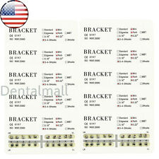 US 10 Packs Dental Orthodontic Metal Brackets Mini Roth 022 Slot 345 Hooks 200pc