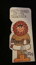Vintage Eskimo And Fishing Valentine Card 1960S Unsigned