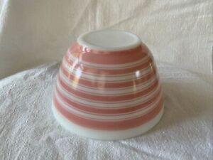 Vintage #401 Pyrex Pink Striped Bowl Small 1-1/2 Pt.