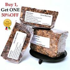African Black Soap Bar 1 Lb. Raw 100% Unrefined Pure Natural Organic From Ghana