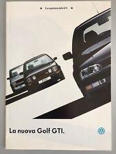VOLKSWAGEN GOLF GTI & GTI 16v 1992 MK3 Brochure Depliant Catalogo Italiano New
