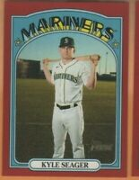 2021 Topps Heritage - Red Border SP - #373 Kyle Seager - Seattle Mariners