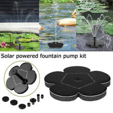 Water Pump Solar Power Panel Kit Fountain Pool Garden Pond Submersible Watering