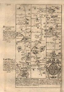 Oxford-Abingdon-East Ilsley-Newbury-Kingsclere road map by OWEN & BOWEN 1753