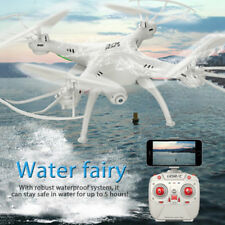 Drone RC Waterproof Helicopter WiFi Camera FPV 2.4GHz Quadcopter 4CH 6Axis White